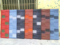 High Quality Flat metal type Colorful stone-coated metal roofing