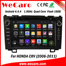 """Wecaro android 4.4.4 car gps navigation system Direct factory 8"""" for crv dvd bluetooth Wifi&3G 2006 2011"""