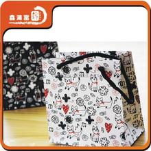 cute wholesale custom printed small shopping bag