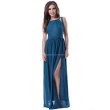 Best quality new design chiffon evening dress with sleeves