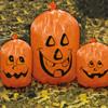 LDPE plastic decorative bags Halloween pumpkin leaf lawn bags