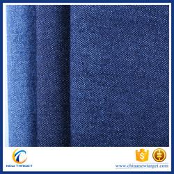 6oz blue cotton polyester stocklot denim fabric
