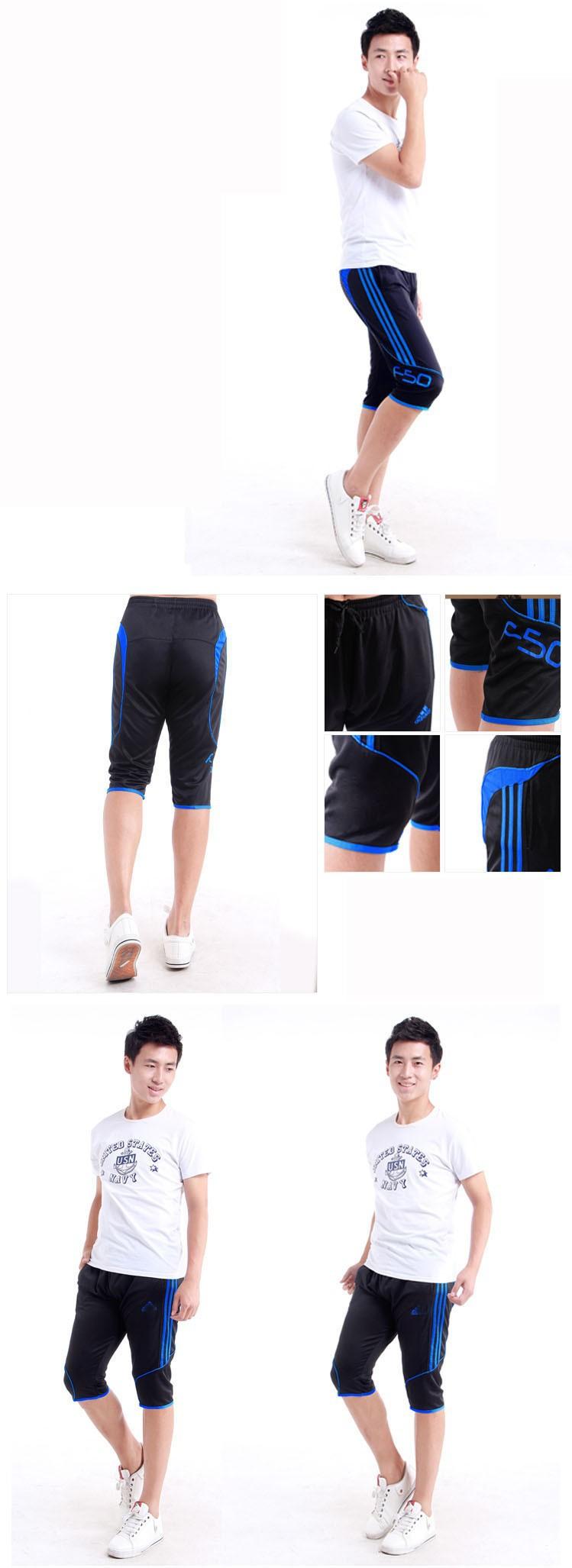 Новый мужской Спортивный брюки тонкий мужской корейской версии повседневная езда брюки штаны подготовки футбол