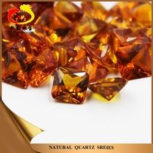 Wholesale price charming square cut corner shaped princess rough yellow sapphire
