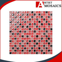 2015 New product phoenix tail color panel glass mosaic wholesale