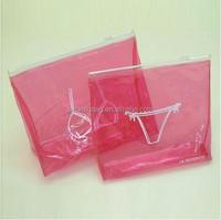Eo-friendly custom printing clear plastic zipper PVC garment bag