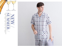 Factory Manufacture Night Dress European Popular Pure Cotton Pajamas For Men