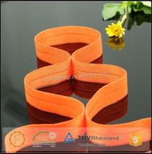 Orange color fold over elastic band for lingerie