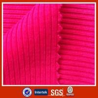 T/C Polyester Cotton 2X2 Rib Knitting Fabric