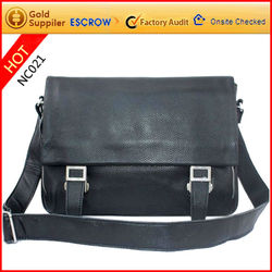 Brand name high quality personalized leather sling bag for boys