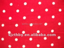 made in China cotton red and white polka dot fabric