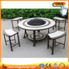 Modern outdoor fire pit table coffee table