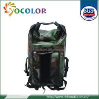 Camouflage waterproof backpack bag use 500D pvc tarpaulin