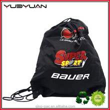 2015 The Newest Design Wholesale Chinese Factory Price High Quality Small Polyester Nylon Gym Sack Waterproof Drawstring Bag