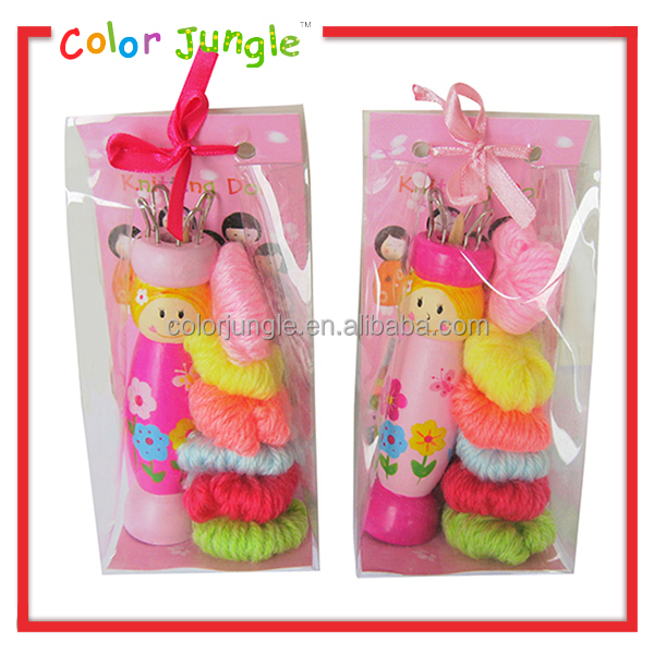 Knitting Tools For Kids : Knitting doll for kids tool with colors wool