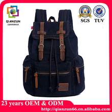 2015 New stylish backpack vintage canvas school backpack laptop backpack