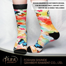 Cotton unisex printed comfort wholesale running socks for sport