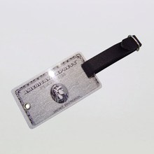 high end custom metal material price tag zinc alloy tag