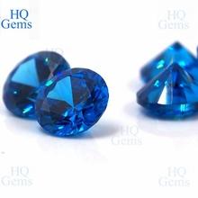 Blue CZ Stone Round Gems Loose Cubic Zirconia Stone Price