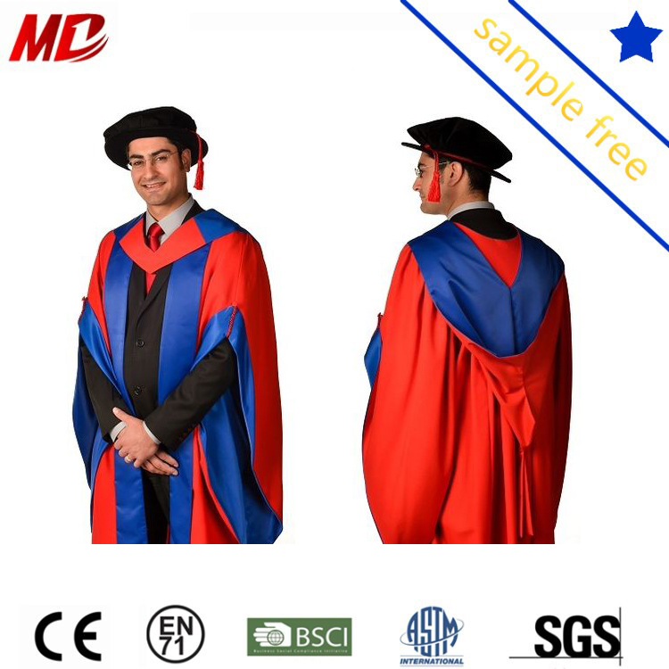 Customized Uk Style Oxford Phd Doctoral Graduation Gown - Buy Uk Phd ...