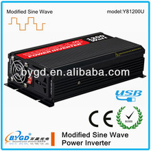 Hot selling 12vdc to 24vac power inverter 1200w,off grid power inverter made in (Y81200U)
