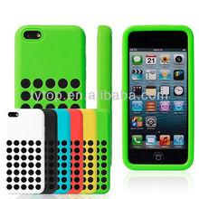 New design silicone case for iphone 5c original, smartphone cover for iPhone 5c cases silicone with hole