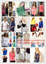 2015 Instyles nuevas mujeres del diseño de la mujer desgaste de la ropa de verano moda blusas de cuello