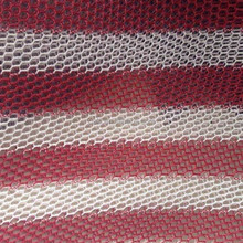 Red/White Stripe Design Knitting Mesh Fabric For Motorcycle Seat Cover