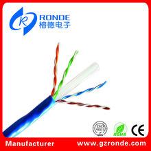 4 pares 23AWG CCA utp cat6 cable de lan de la fábrica profesional
