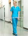 2014 nuevo estilo oriental personal médico túnica matorrales uniforme 2 piezas conjunto de algodón uniforme de enfer