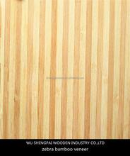 high quality gurjan zebra bamboo veneer or furniture,plywoof ,floor