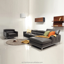 2015 Top Grain Leather Sofa Modern Design