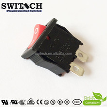 high quality 2pin ROHS UL approved winch rocker switch single pole on off