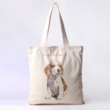 wholesale eco printed canvase cartoon cute tote bag for school girl