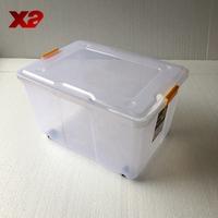 Plastic storage box with interlock lid,plastic fruit storage box