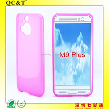 mobilephone tpu matte inside and gloss back case for HTC M9 Plus