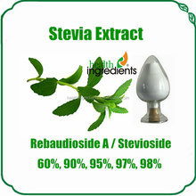 Pure sweet high sweetness Stevia rebaudiana\Rebaudioside a 98% with international price for stevia