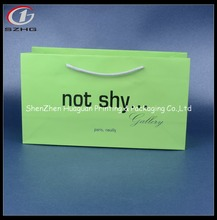 New design santa pattern paper bag Professional paper bags with handles for wholesales luxury paper shopping bag