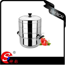 30cm Multifuction Stainless steel 4 layer Steamer Pot With Lid/ Double Bottom Cooking pot