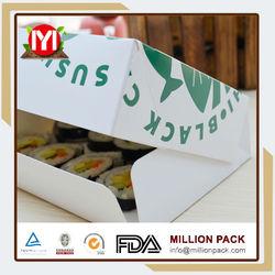 Food grade paper sushi box, mini eco sushi container