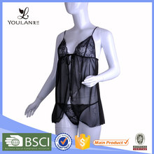High Quality Noble and Elegant Black Elasticity Japanese Girl Lingerie