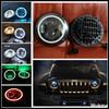 7 LED Headlight With DRL turning light For Jeep97-14 Wrangler JK TJ Hi-Low Dual Beam led headlight For LandRover