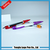 2015 hot selling novel design recycling plastic banner ball pen