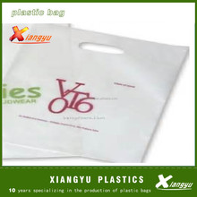 HDPE white die cut bag produce as you design with best price and high quality