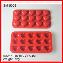 Factory price silicone heart shape icing mold chocolate mold for sale