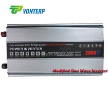 2000W Modified Sine Wave 12V 24V DC-AC Power Inverter