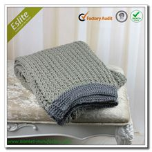 King Size Acrylic Blanket In China Knitted Blanket
