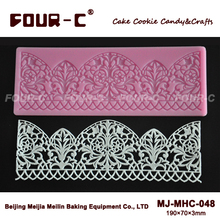 FOUR-C Lace Silicone Mat Border Decorating for Cake
