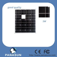 5W Monocrystalline Silicon solar panel with good price
