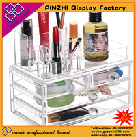 Hot selling clear acrylic makeup storage boxes